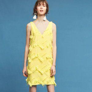 ANTHROPOLOGY Fringe Mauve Dress Size 4